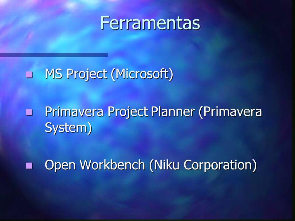 Ferramentas MS Project (Microsoft)