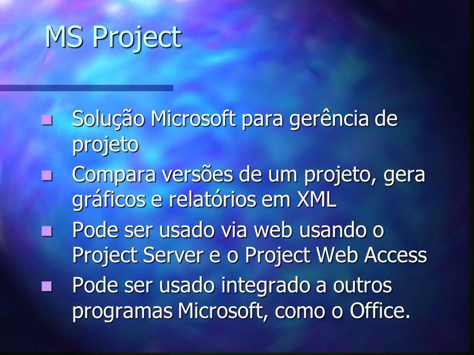 MS Project Solução Microsoft para gerência de projeto