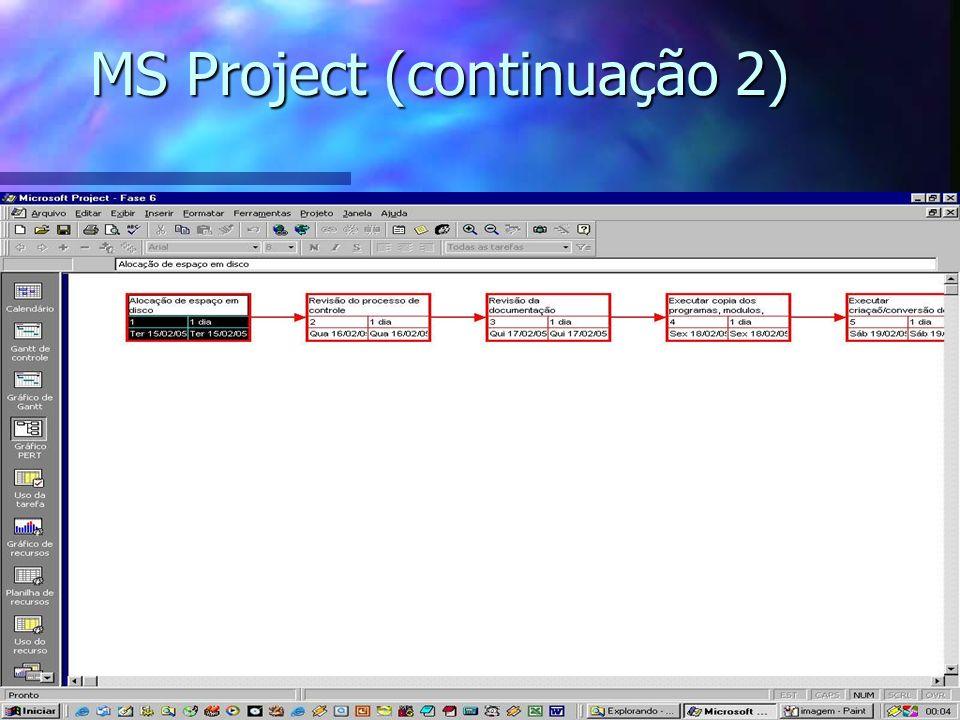 MS Project (continuação 2)