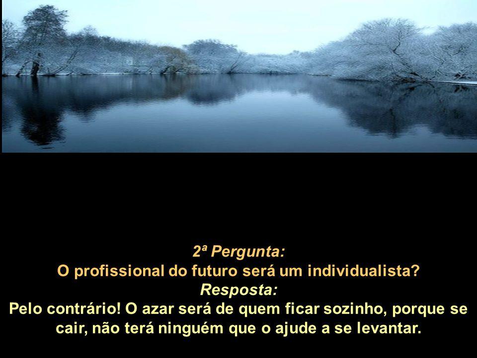 2ª Pergunta: O profissional do futuro será um individualista