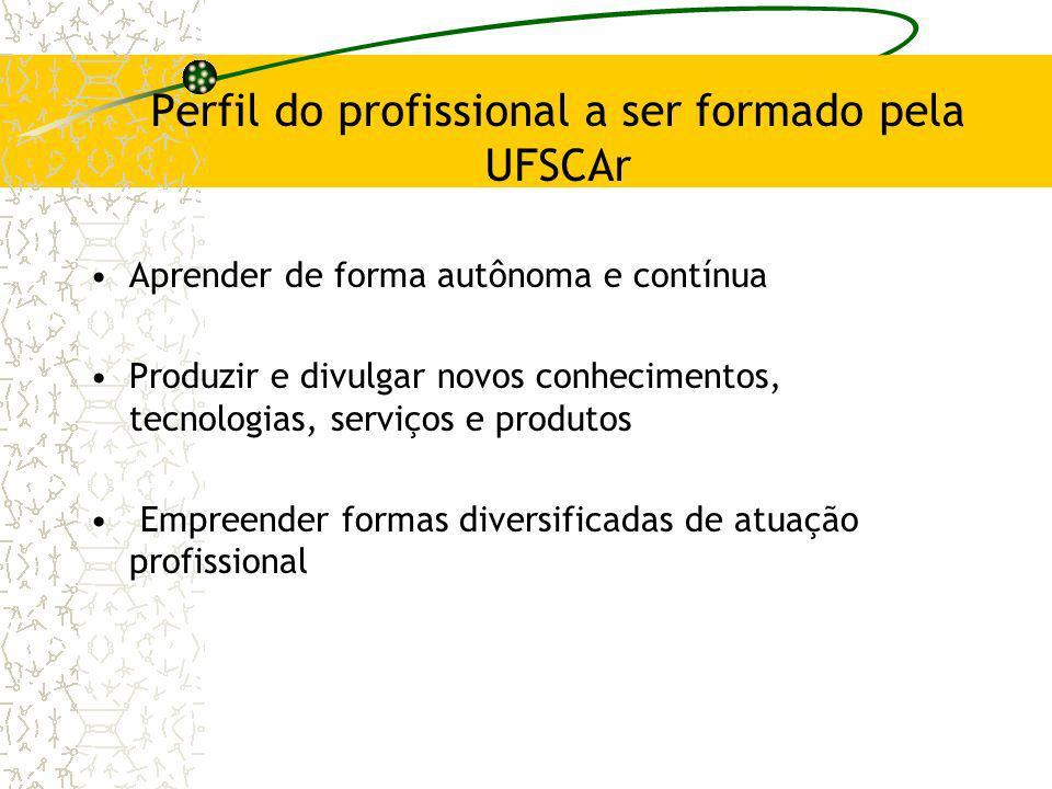 Perfil do profissional a ser formado pela UFSCAr