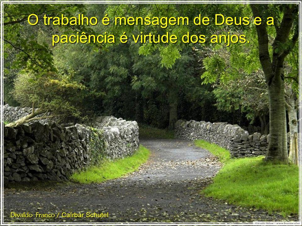 O trabalho é mensagem de Deus e a paciência é virtude dos anjos.