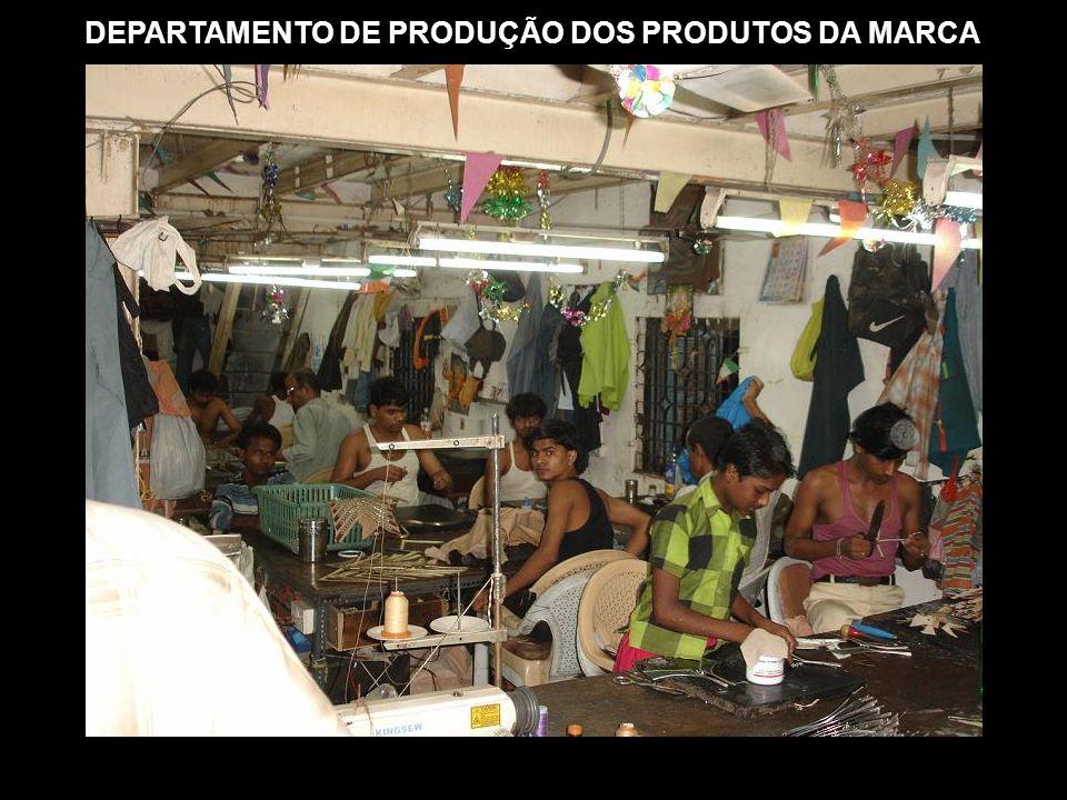DEPARTAMENTO DE PRODUÇÃO DOS PRODUTOS DA MARCA