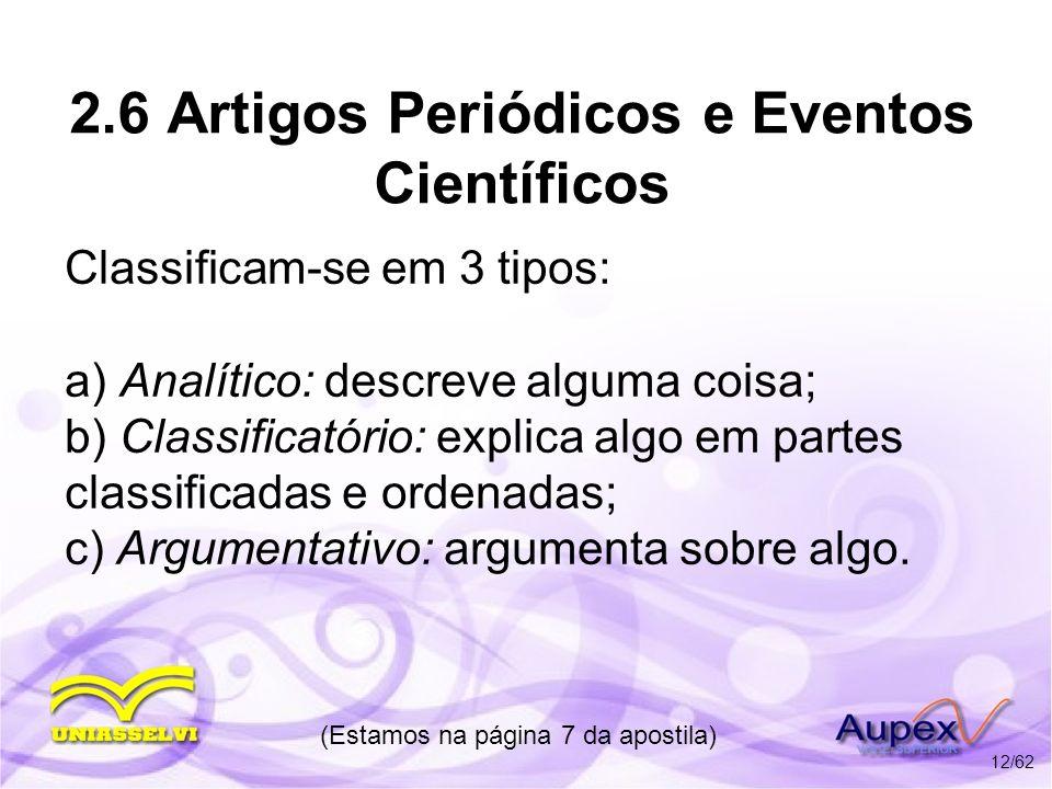 2.6 Artigos Periódicos e Eventos Científicos
