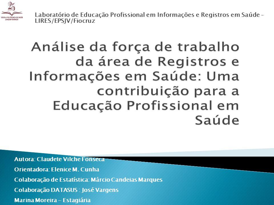 Laboratório de Educação Profissional em Informações e Registros em Saúde -LIRES/EPSJV/Fiocruz