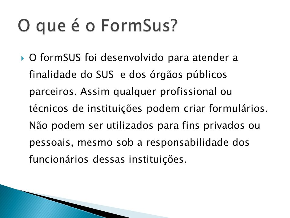 O que é o FormSus