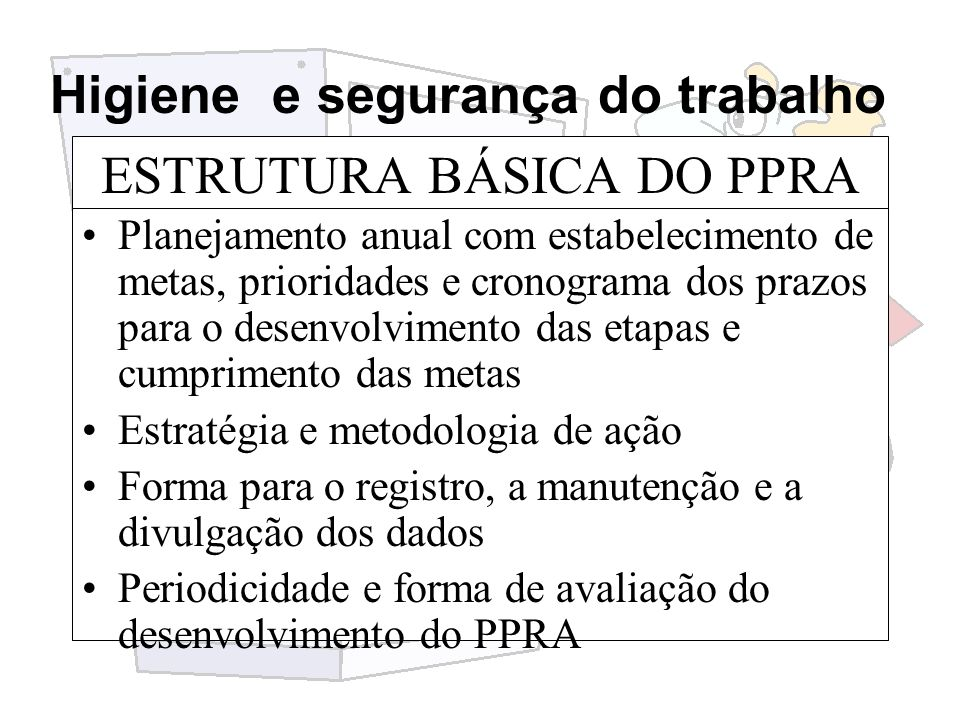 ESTRUTURA BÁSICA DO PPRA
