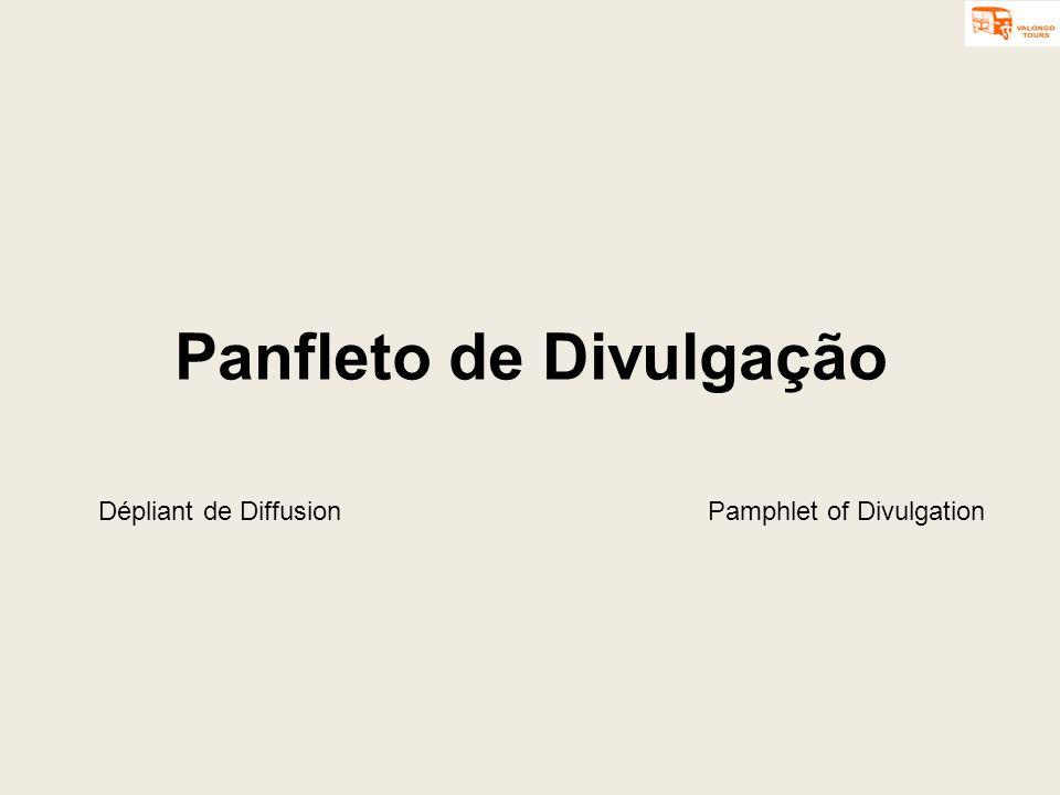 Panfleto de Divulgação