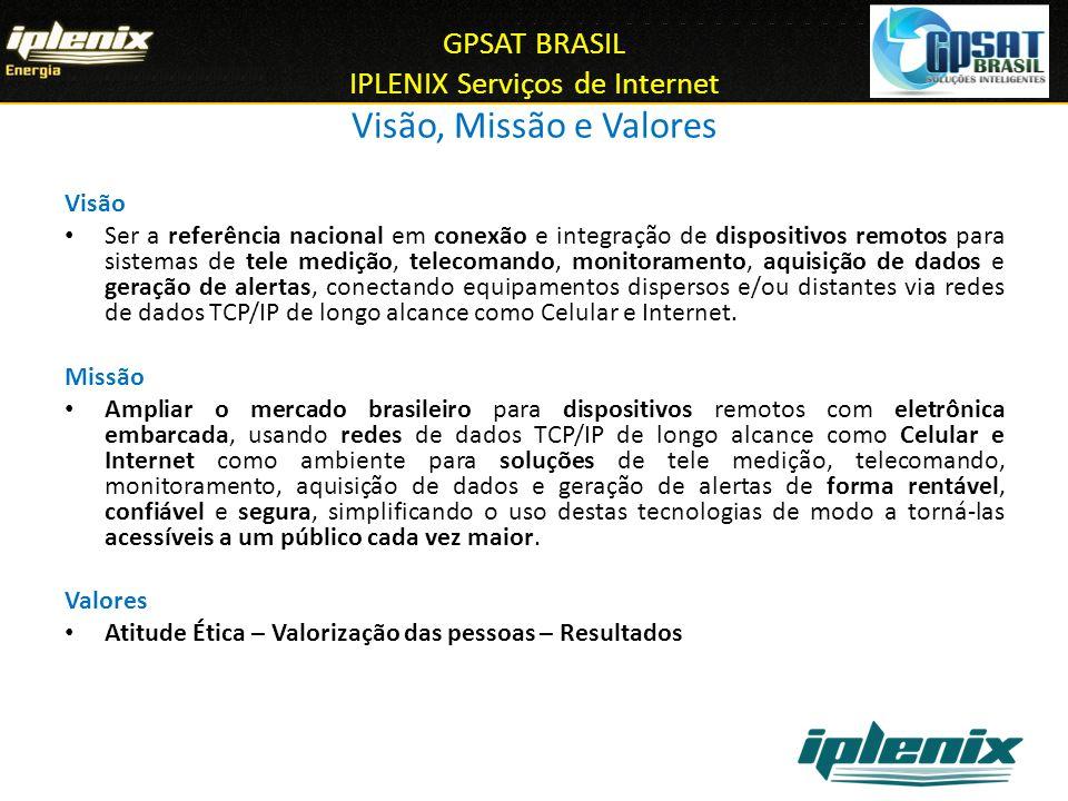 GPSAT BRASIL IPLENIX Serviços de Internet Visão, Missão e Valores