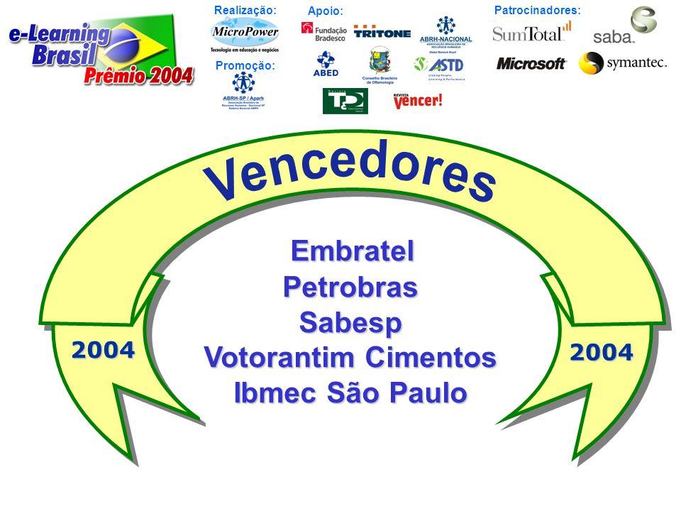 Embratel Petrobras Sabesp Votorantim Cimentos Ibmec São Paulo 2004