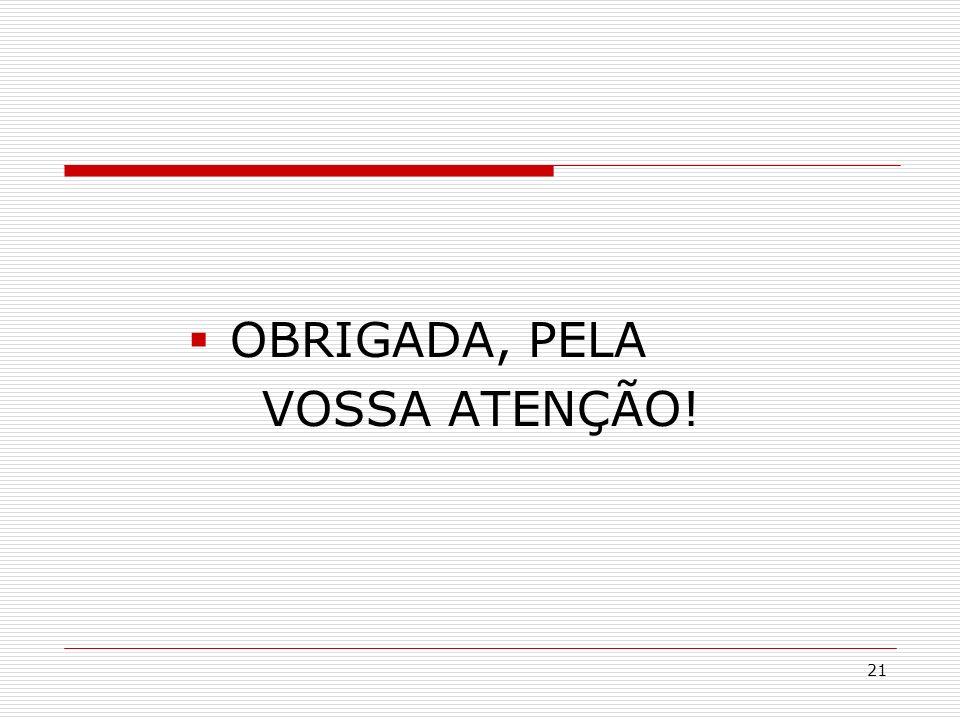 OBRIGADA, PELA VOSSA ATENÇÃO!