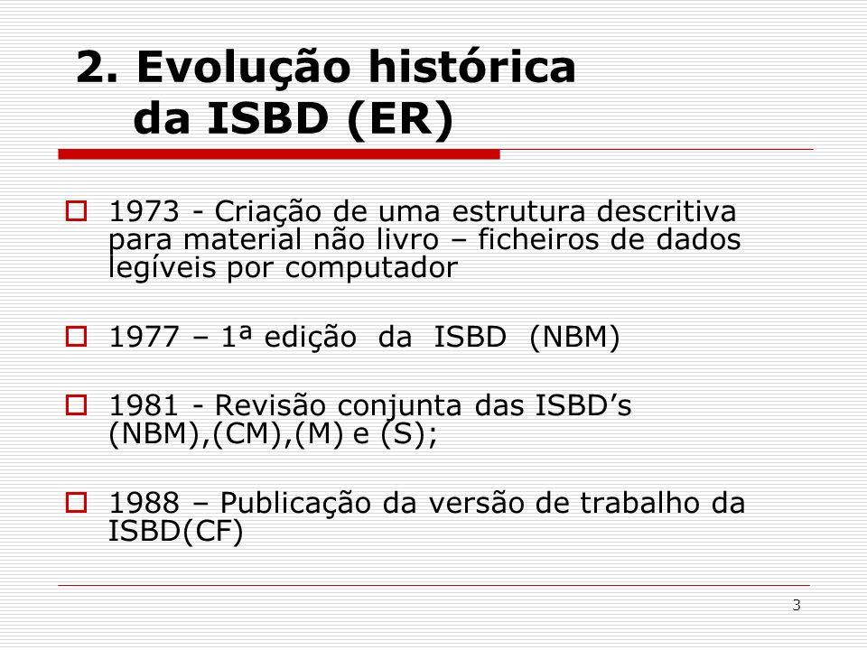 2. Evolução histórica da ISBD (ER)