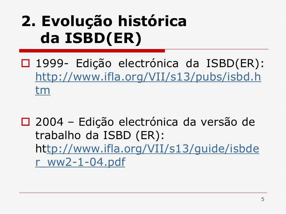 2. Evolução histórica da ISBD(ER)