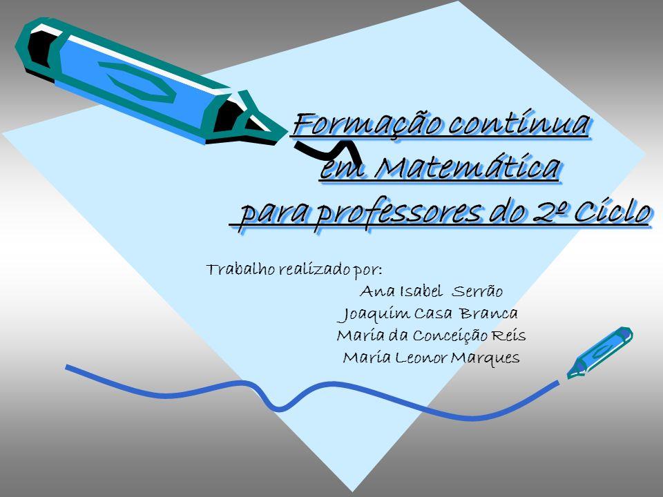 Formação contínua em Matemática para professores do 2º Ciclo