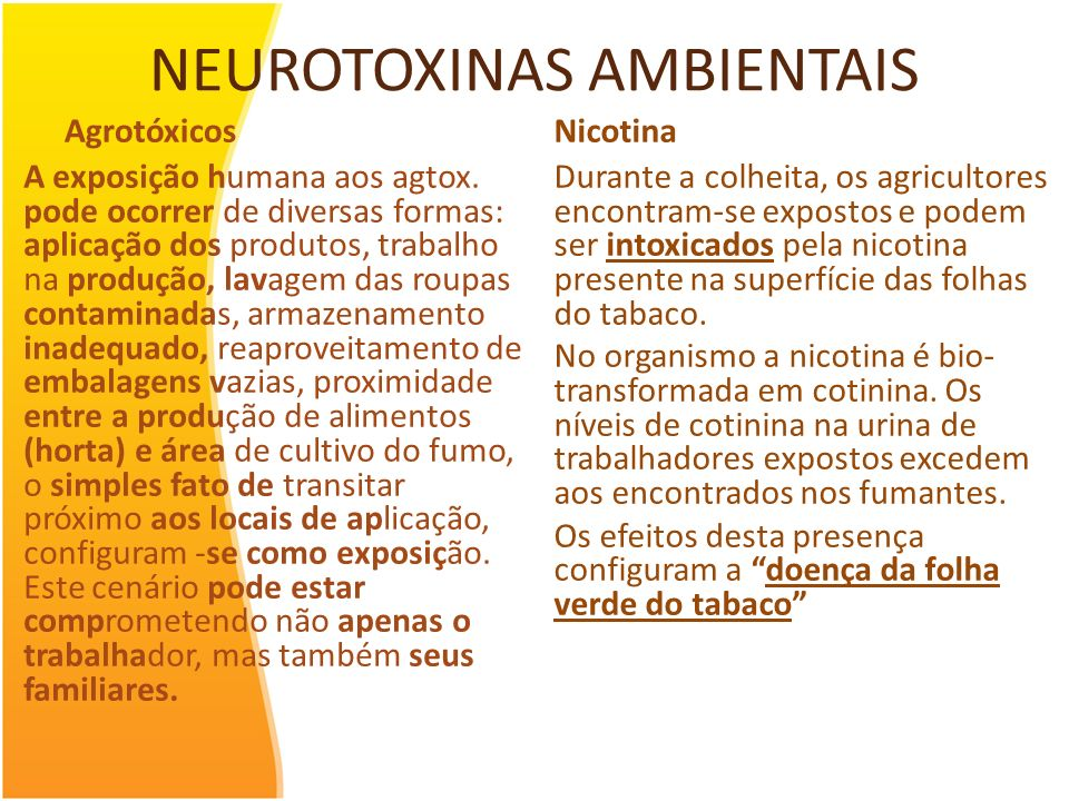 NEUROTOXINAS AMBIENTAIS