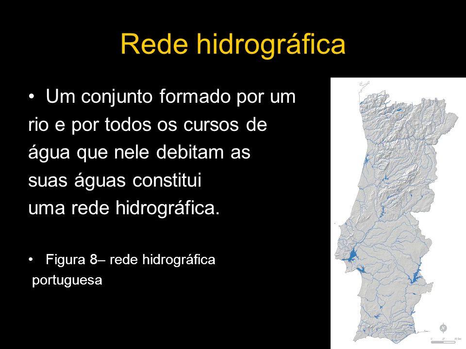 Rede hidrográfica Um conjunto formado por um