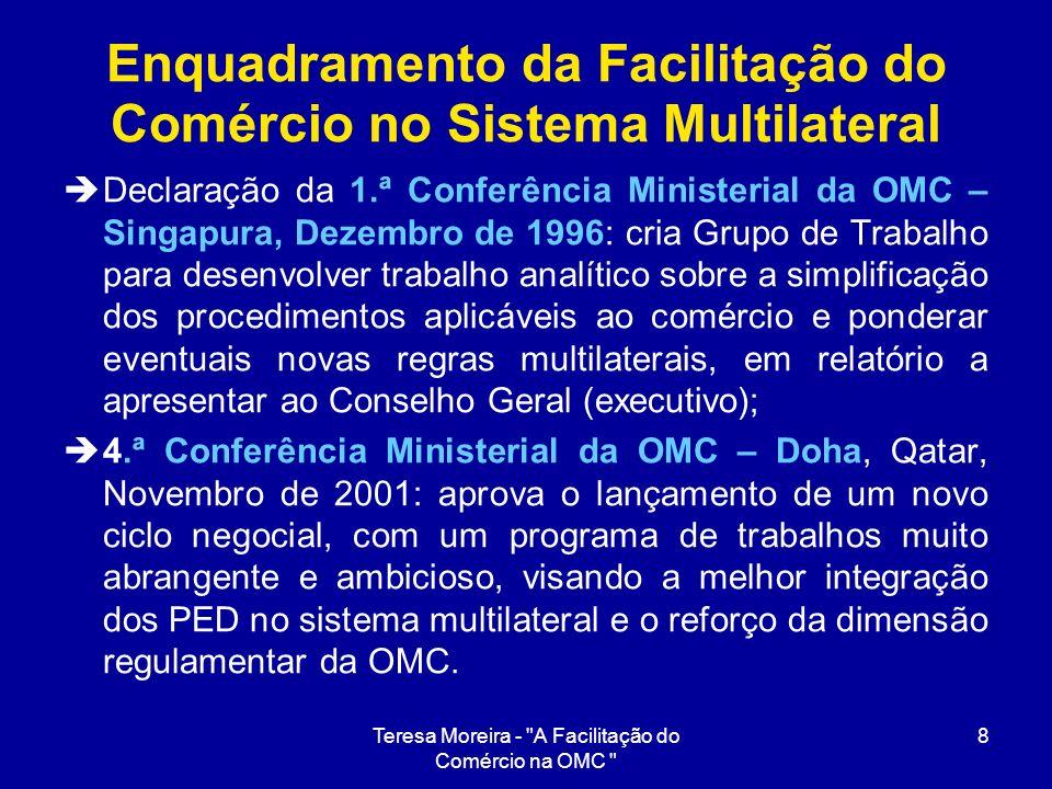 Enquadramento da Facilitação do Comércio no Sistema Multilateral