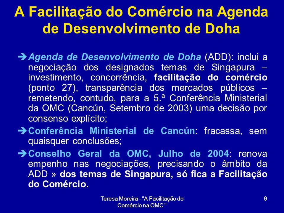 A Facilitação do Comércio na Agenda de Desenvolvimento de Doha
