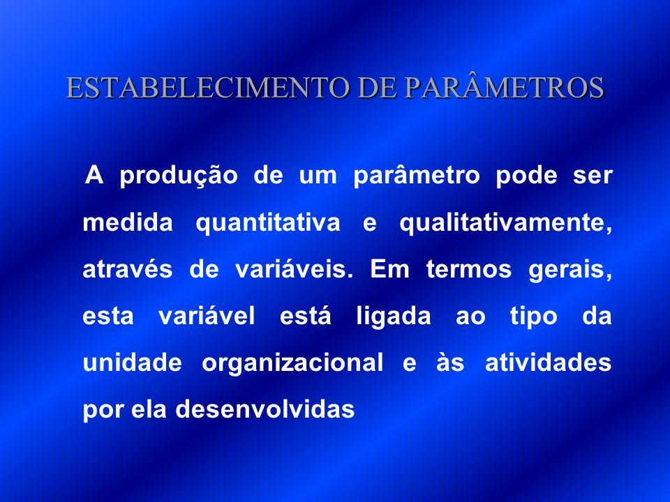 ESTABELECIMENTO DE PARÂMETROS