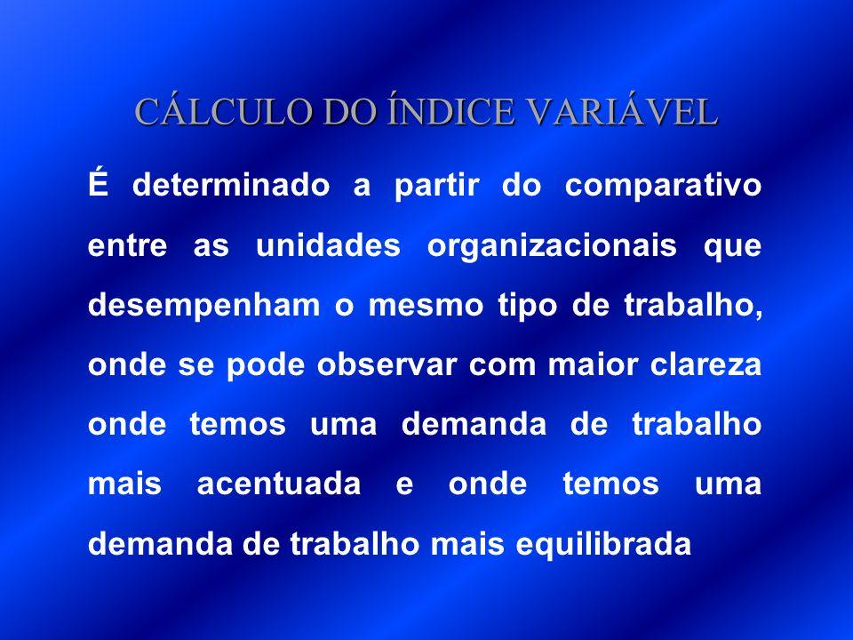 CÁLCULO DO ÍNDICE VARIÁVEL