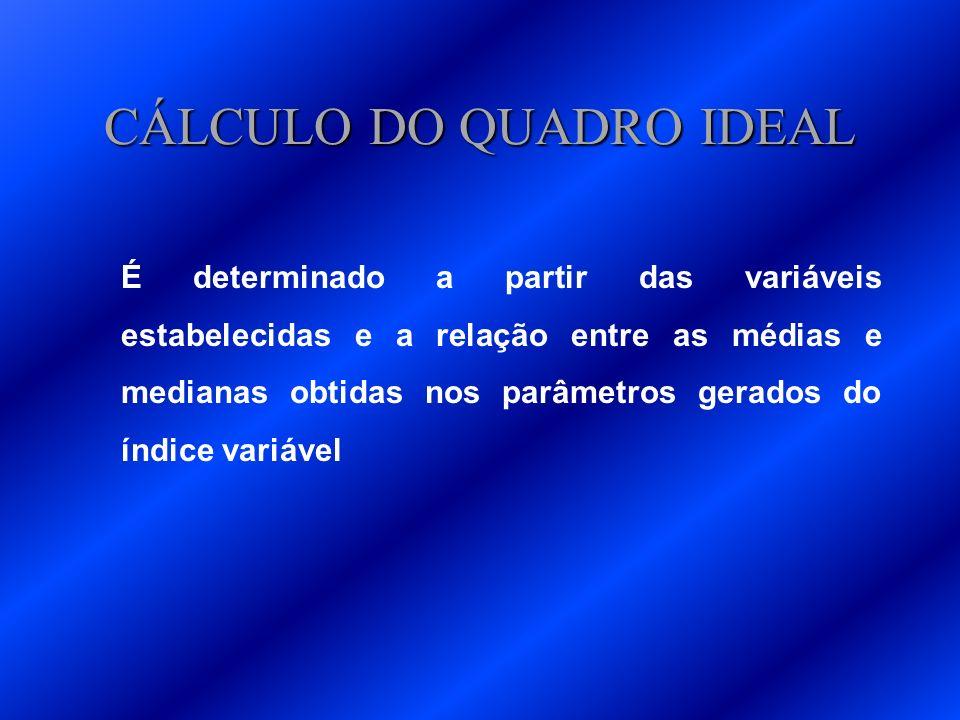 CÁLCULO DO QUADRO IDEAL