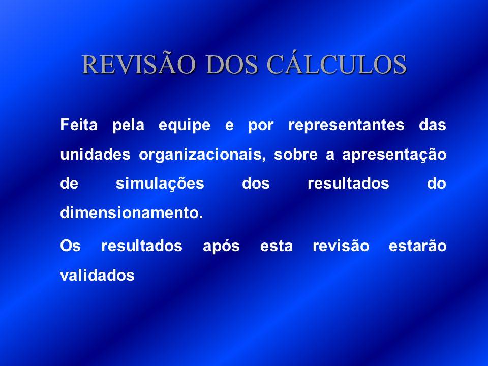 REVISÃO DOS CÁLCULOS