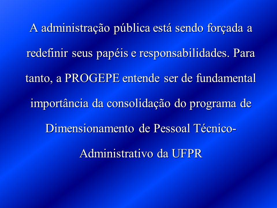 A administração pública está sendo forçada a redefinir seus papéis e responsabilidades.