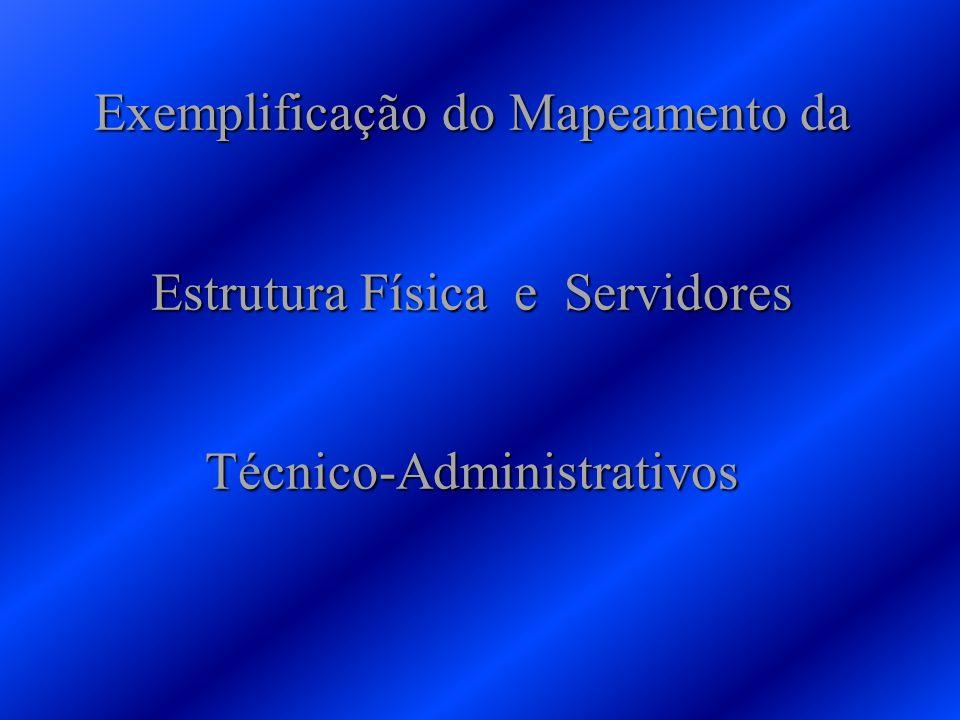 Exemplificação do Mapeamento da Estrutura Física e Servidores Técnico-Administrativos