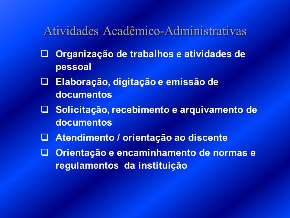 Atividades Acadêmico-Administrativas