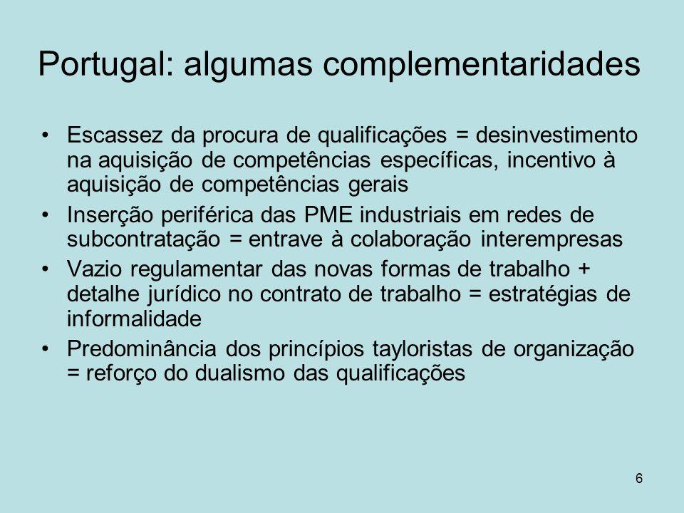 Portugal: algumas complementaridades