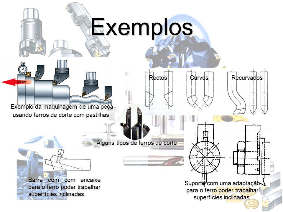 Exemplos Rectos Curvos Recurvados Exemplo da maquinagem de uma peça