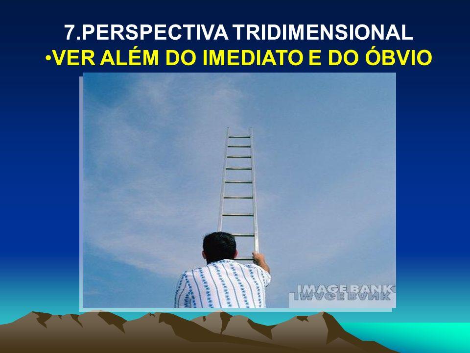 7.PERSPECTIVA TRIDIMENSIONAL VER ALÉM DO IMEDIATO E DO ÓBVIO