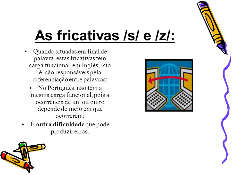 As fricativas /s/ e /z/: