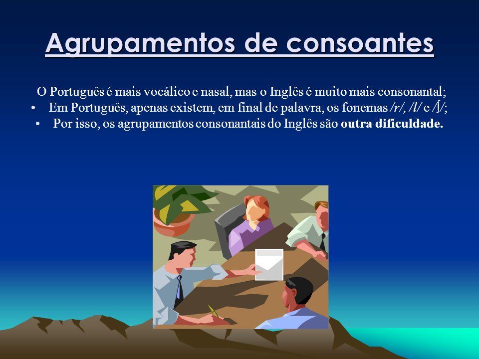 Agrupamentos de consoantes