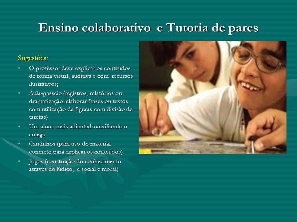 Ensino colaborativo e Tutoria de pares