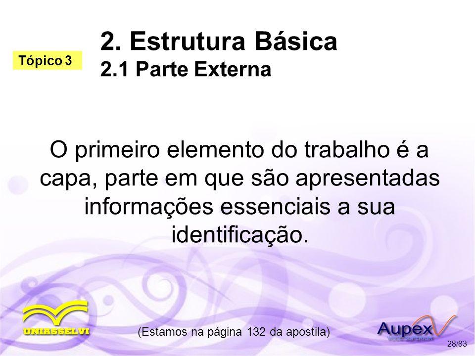 2. Estrutura Básica 2.1 Parte Externa