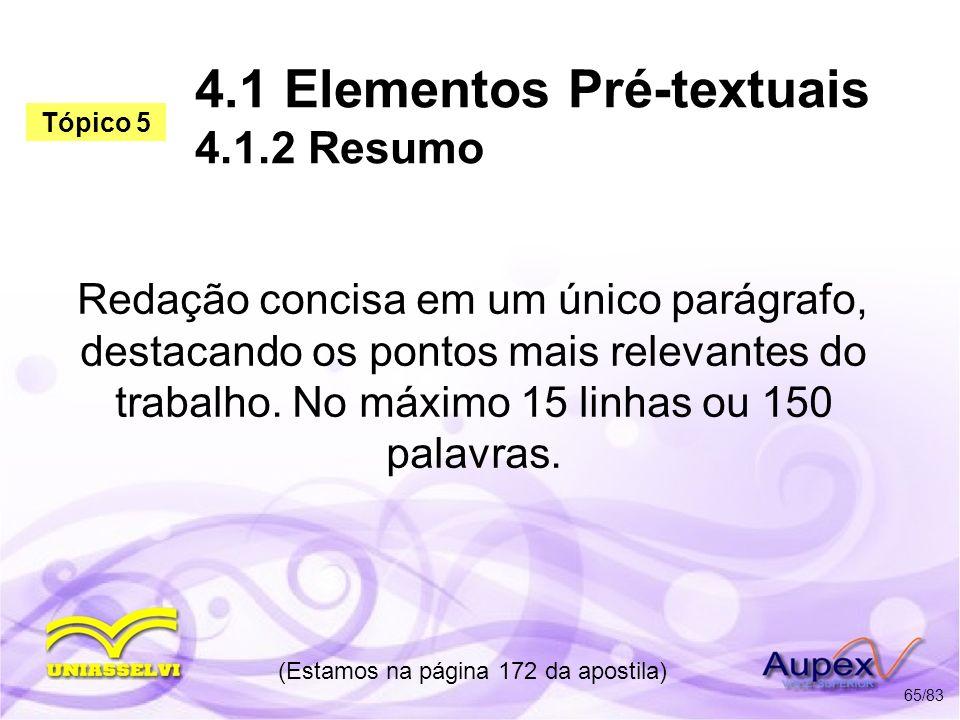 4.1 Elementos Pré-textuais 4.1.2 Resumo