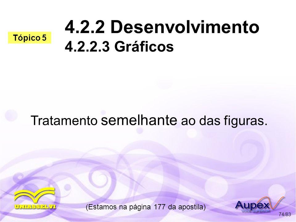 4.2.2 Desenvolvimento 4.2.2.3 Gráficos