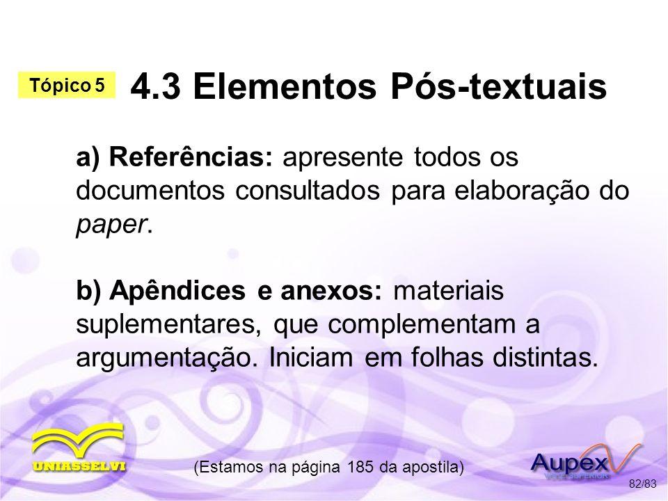 4.3 Elementos Pós-textuais