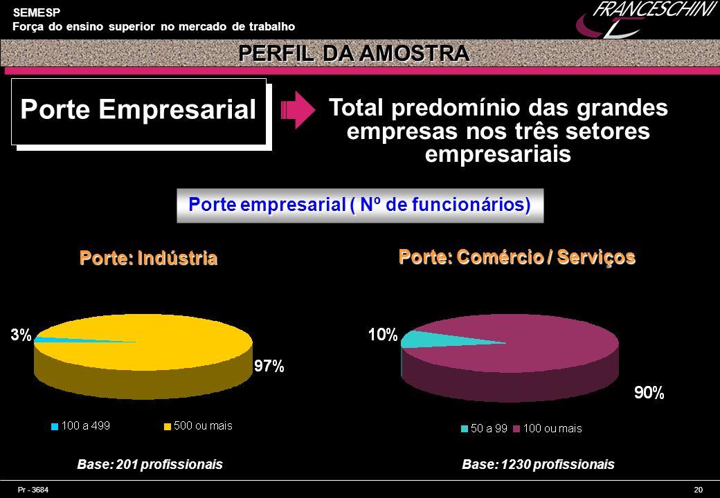 Total predomínio das grandes empresas nos três setores empresariais