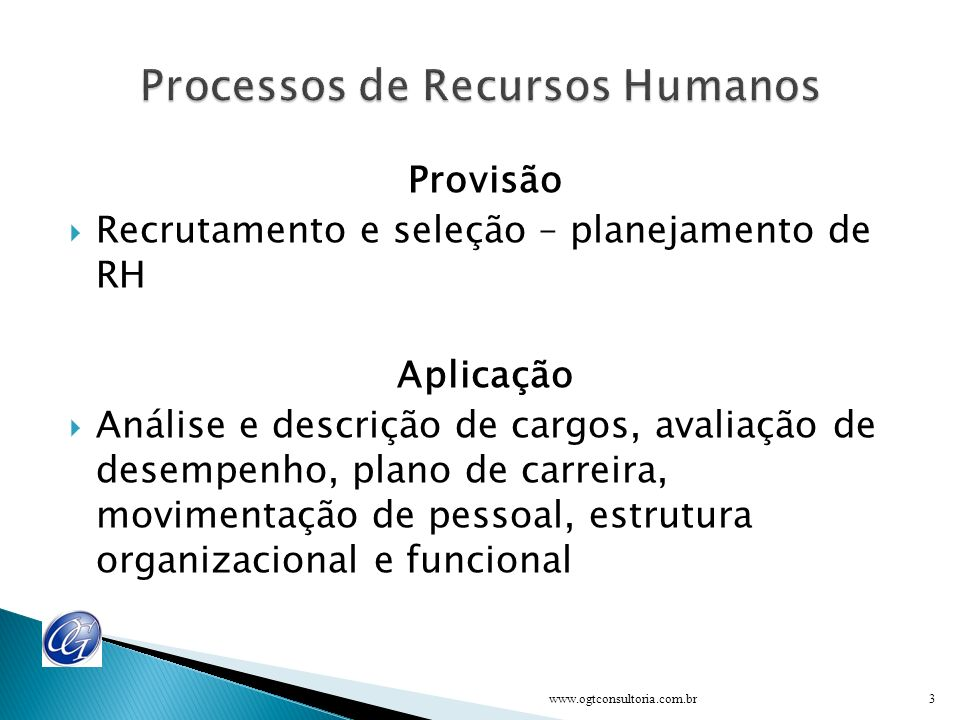 Processos de Recursos Humanos