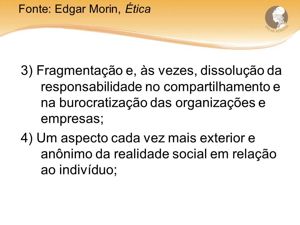 Fonte: Edgar Morin, Ética