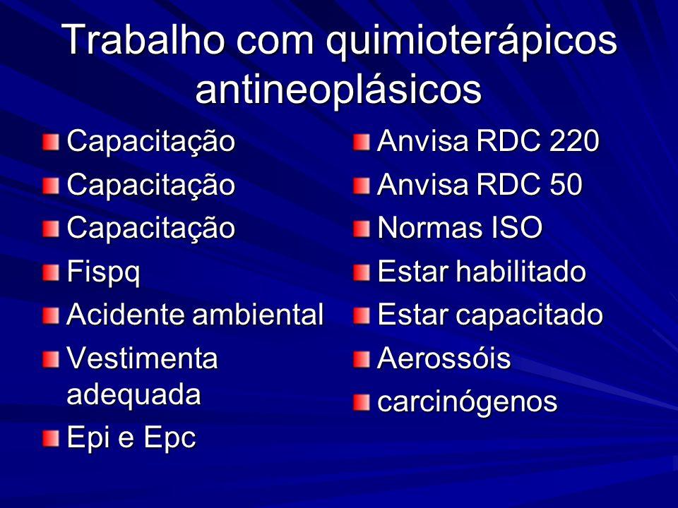 Trabalho com quimioterápicos antineoplásicos