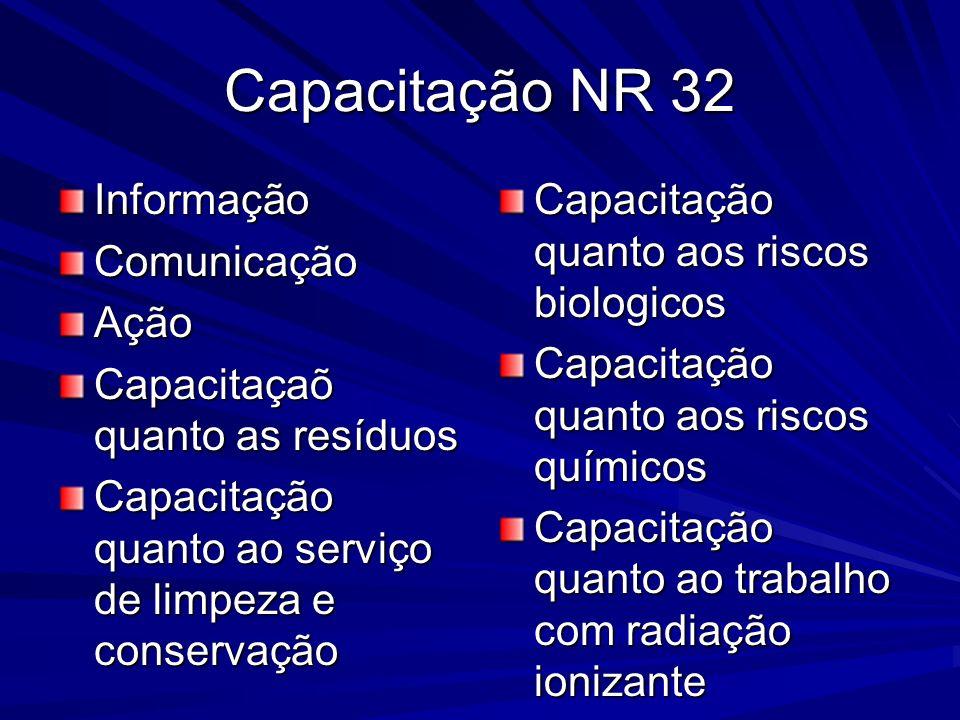 Capacitação NR 32 Informação Comunicação Ação
