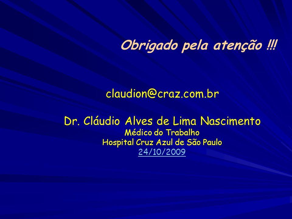 Obrigado pela atenção !!! claudion@craz.com.br