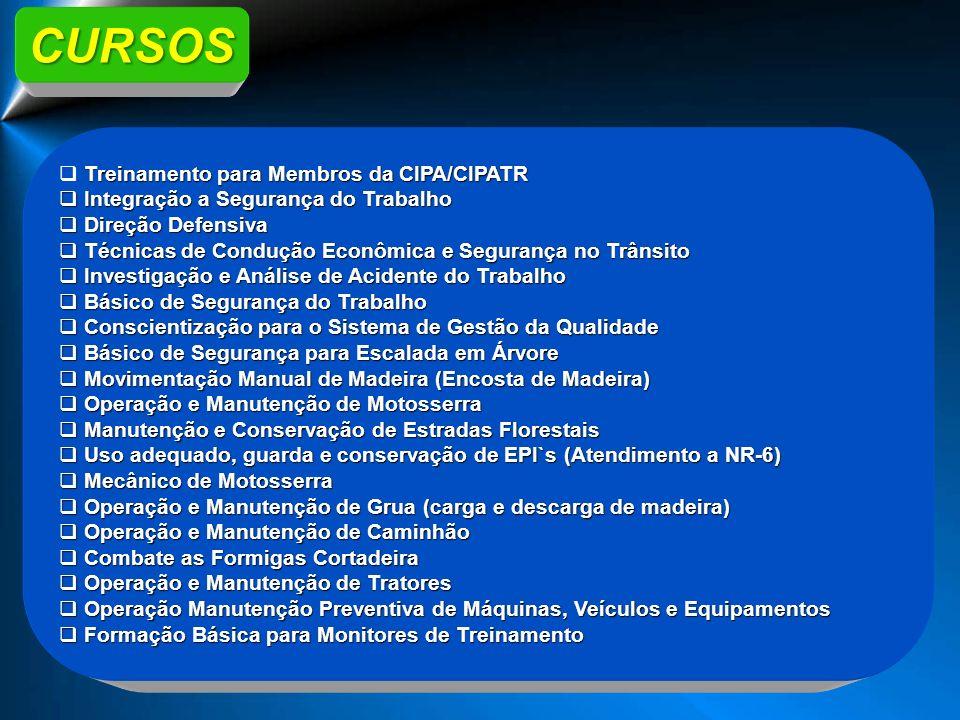 CURSOS Treinamento para Membros da CIPA/CIPATR