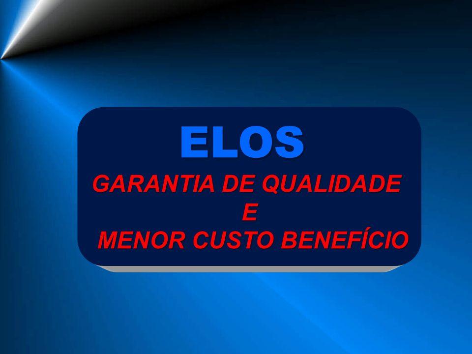 ELOS GARANTIA DE QUALIDADE E MENOR CUSTO BENEFÍCIO