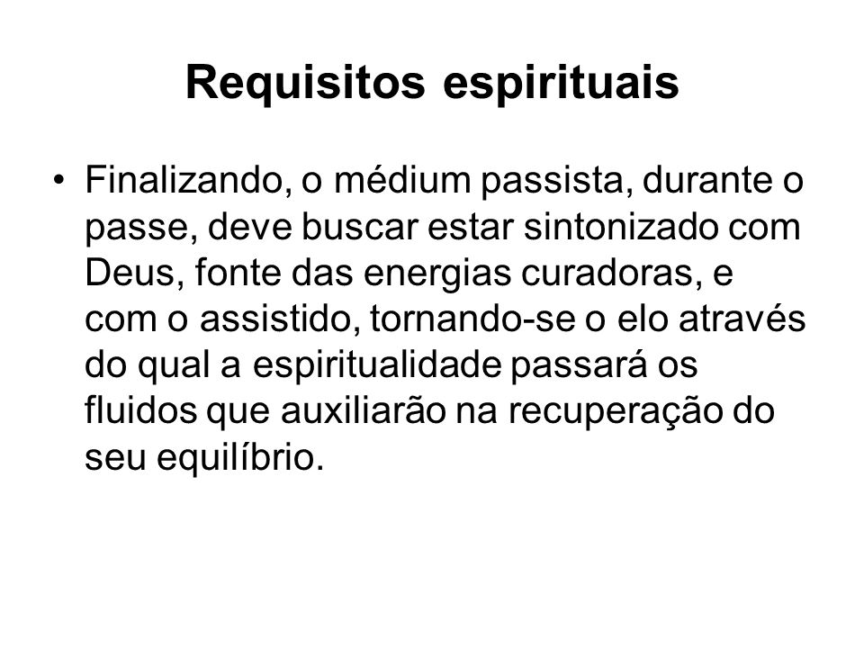 Requisitos espirituais