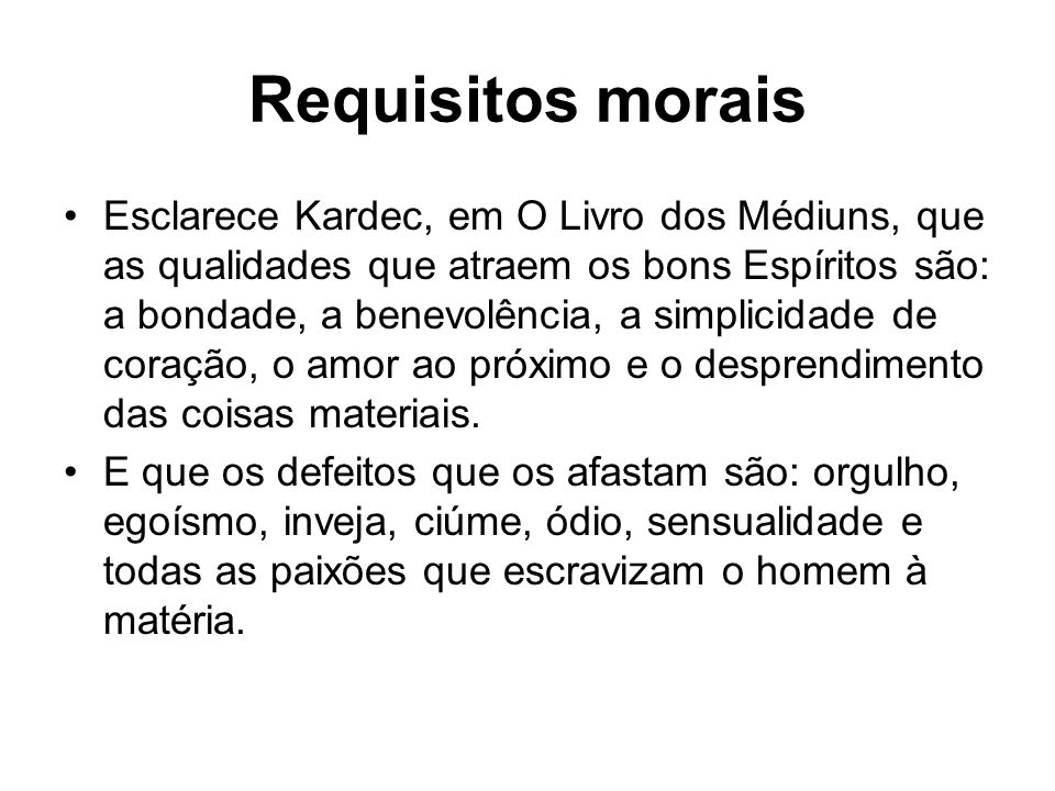 Requisitos morais