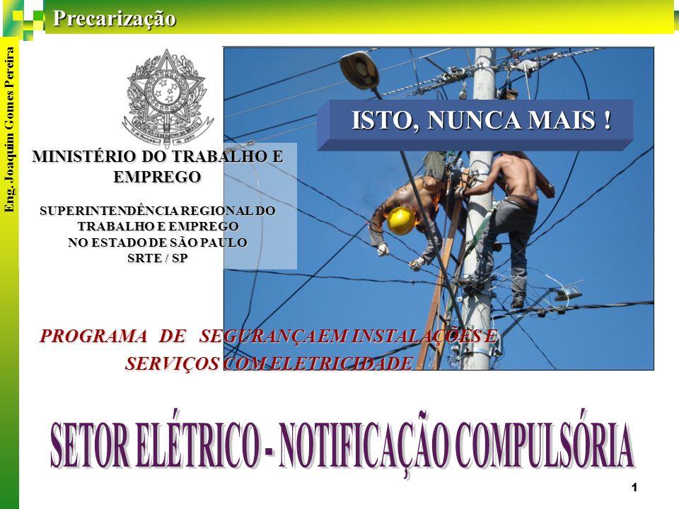 SETOR ELÉTRICO - NOTIFICAÇÃO COMPULSÓRIA
